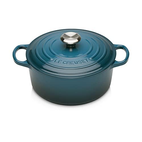 Le Creuset Enameled Cast Iron Dutch Oven, 7.25 qt., Deep Teal