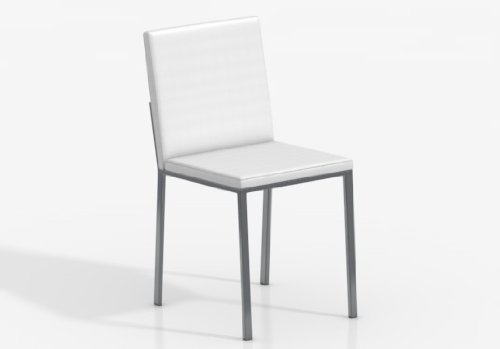 CANCIO Silla Ole - Asiento-Respaldo Foam Confort Kanon Blanco/Patas Aluminio
