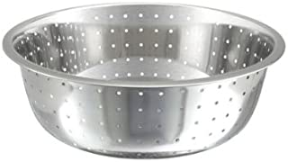 Winco CCOD-15L Stainless Steel Chinese Colander with 5mm Holes, 15-Inch Diameter