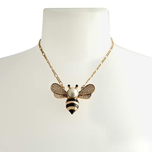Betsey Johnson Bee Short Pendant Necklace