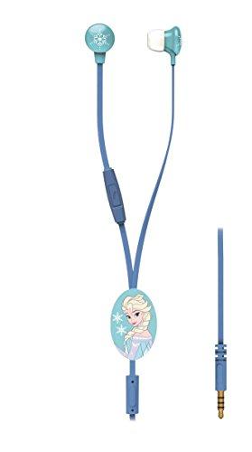 LEXIBOOK Auriculares HP006FZ Diseño Frozen, de Botón, Micro, Smartphones, Color Azul, 1.9 x 1.8 x 1.4cm (LEX179)