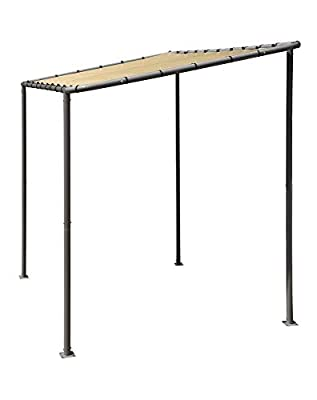 ShelterLogic 10' x 6' Solano Gazebo Canopy Charcoal Carbon Steel Frame Water-Resistant and Sun Protection Cover, Marzipan Tan