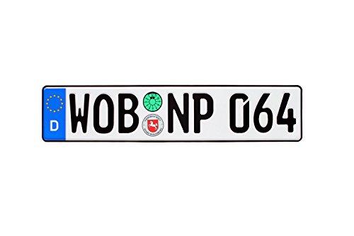 Wolfsburg Plaque européenne allemande avec sceaux – Personnages aléatoires