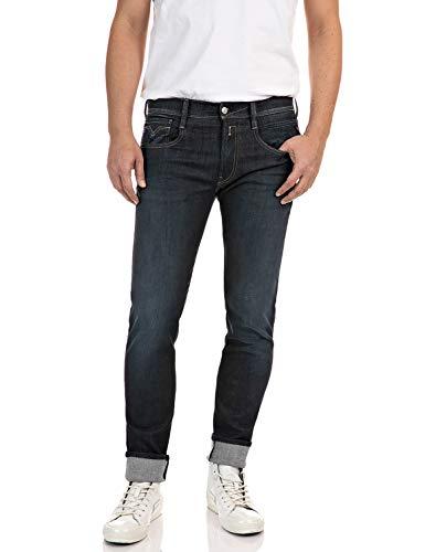 Replay Anbass Jeans, Bleu (7 Bleu Foncé), 32/32 Homme
