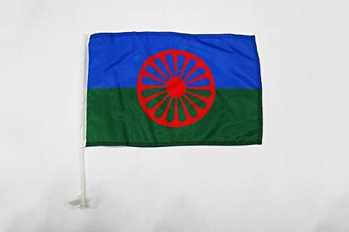 AZ FLAG Bandera de Coche Gitana 45x30cm - BANDERINA para Auto DE LOS GITANOS - Gypsy 30 x 45 cm
