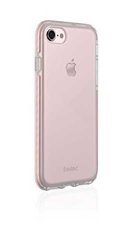 Evutec iPhone 7/iPhone 8 SELENIUM Clear Transparent Scratch Resistant Phone Case Lightweight Protective Case for Apple iPhone 7 [4.7 inch] - Rosegold