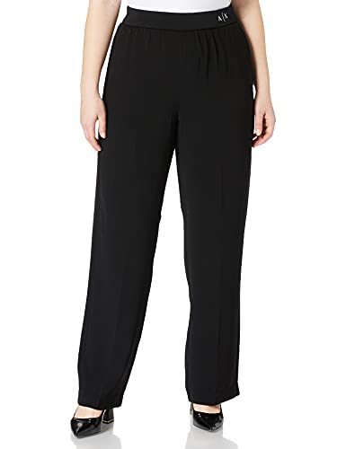 Armani Exchange Wide Fit Casual Pants Pantalones Mujer