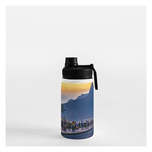 Society6 Ipanema Beach, Rio De Janeiro, Brazil by Dflc Prints on Water Bottle - 12 oz 356 mL - Sport Lid