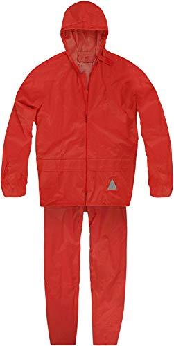 normani Unisex - Erwachsene Regenanzug (Jacke und Hose) - 100% wasserdicht Farbe Rot Größe L