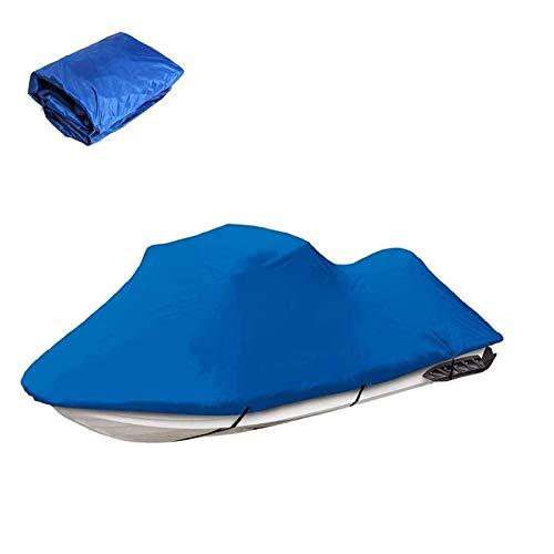 Funda de Lancha Motora Jet Ski Cover, 210D Impermeable Oxford UV Protección Motora Lancha Cover, Se Adapta a Motos de Agua 136'' a 145'',Azul