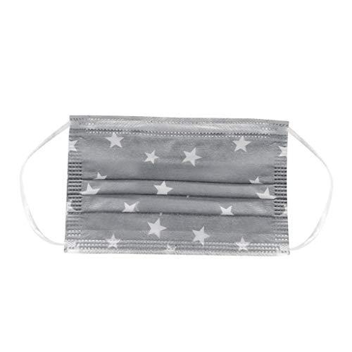 Keepwin 50 Stück Einweg 3 lagig Mund-Nasen-Schutz, Motiv Atmungsaktive Multifunktionstuch Bandana Halstuch Schals für Erwachsene und Kinder (G-50PC) - 3