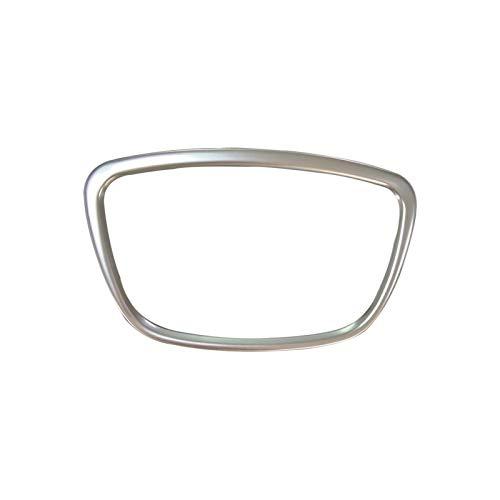Embellecedor para volante de ABS cromado con logotipo central de anillo de logotipo, para Audi A4 B8 B9 A3 S3 8V Q3 Q5 Q7 A6 C7 (para A6 C7 A7 A8)