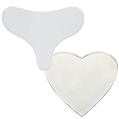 2 Pcs Heart Shaped Anti Wrinkle Chest Pads Usable Silicone Chest Wrinkle Pads for Woman from Generies