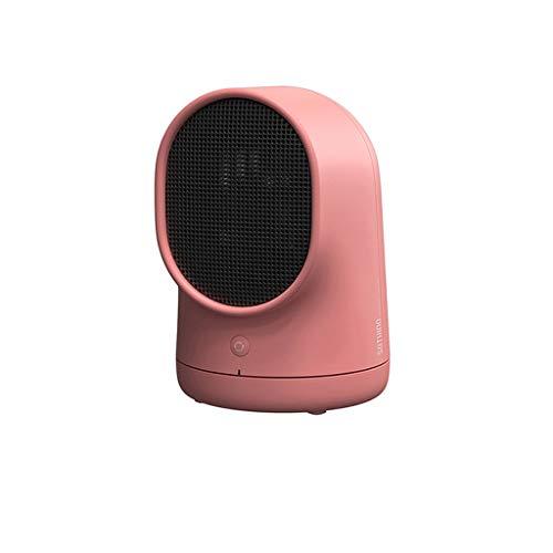 Chauffage Bureau Bureau Maison Économie d'énergie Mini dortoir de chauffage électrique Petite idée Vitesse Thermostat de chauffage (Color : Pink)