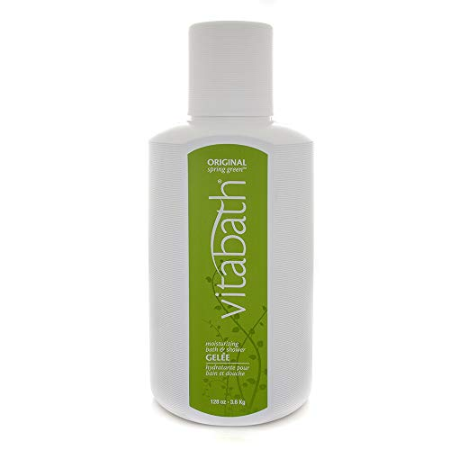 Vitabath Original Spring Green Bath & Shower Gelee Moisturizing Body Cleanser Infused with Pine, Rosewood & Patchouli - Cruelty-Free, Gluten-Free, Paraben-Free - 128 oz