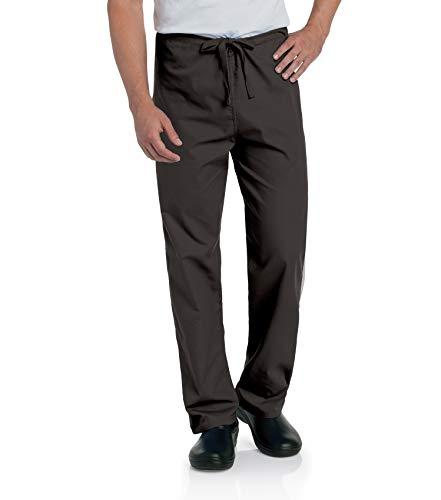Landau Comfort Stretch One-Pocket Reversible Drawstring Scrub Pant, Black, Medium