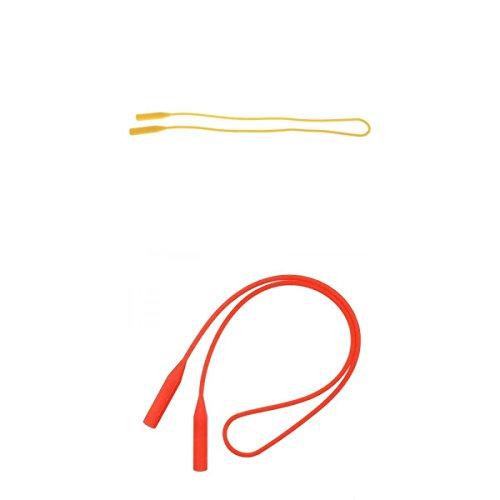 Colcolo Cuerdas de Cadena de Gafas de Sol de Gel de Silicona Impermeables Elásticas de 2 Piezas