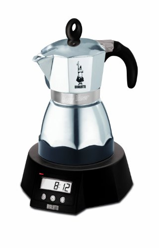 Bialetti CAFFETTIERA EASY TIMER - Cafetera (Negro, Acero inoxidable, LCD, De café molido, Café)