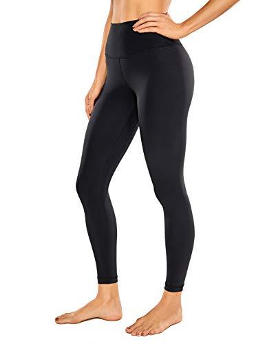 CRZ YOGA Women's Naked Feeling I 7/8 High Waisted Yoga Pants Workout Leggings - 25 Inches Black X-Small