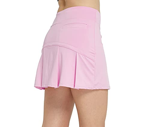 Cityoung Women's Tennis Skirt Pleated Athletic Skort with 3 Pockets for Golf Running Workout Sports m l_pk Light Pink