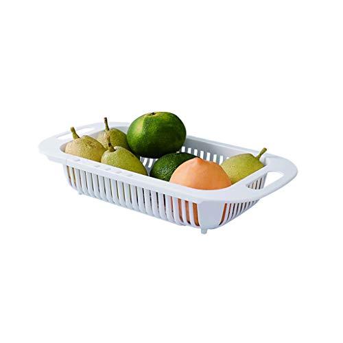 Colador de cocina Plástico plegable colador sobre los Vegetales Frutas fregadero colador...