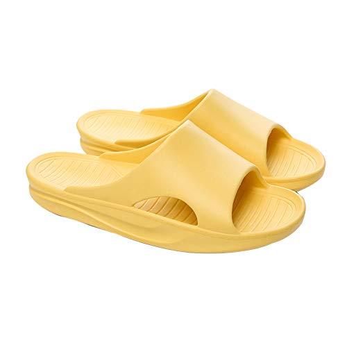 Zapatillas De Pareja Para Hombres Y Mujeres, Zapatillas Antideslizantes Para La Ducha En El Hogar De Verano, Zapatillas De Secado Rápido Transpirables Con De Suela Blanda 39-40 amarillo