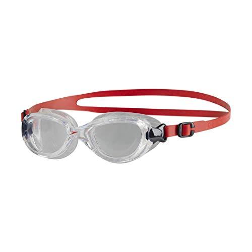 Speedo Futura Classic Junior Gafas de natación, Unisex niños, Rojo lava/Transparente, One Size