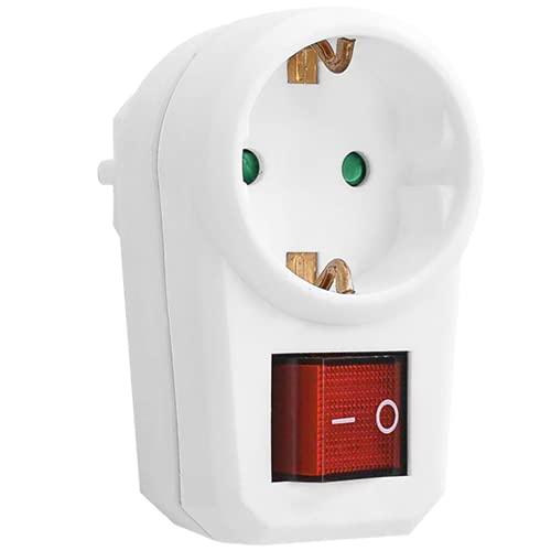 ORNO AE-13188(GS) Enchufe Multiple Conexiones Schuko con 1 Conexiones Schuko con Interruptor