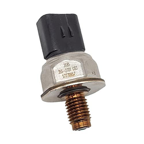 Hachiparts Sensor de Alta Presión CA3552701 355-2701 3552701 5PP4-23 Compatible con Caterpilla r Generador Diesel C175-20 Motor C175-16 3512E Camión 793F 797F Equipo Pesado SPF743 Excavadora
