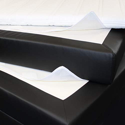 BNP Matratzen Unterlage, 100% Polyester, Weiß, 140 x 200 cm