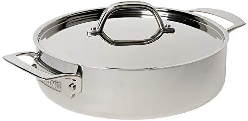 Viking Poêle quotidienne en acier inoxydable 3 plis 3,4 litres