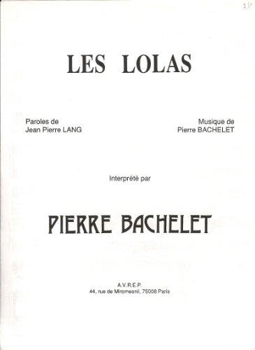 LES LOLAS Chant/Piano/Accords (feuillet)