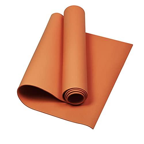 TYUTYU Alfombrillas de Yoga tapete de Espuma Antideslizante para Gimnasio para Pilates Gimnasio Cojín Deportivo Colchón de Yoga Colchón de Culturismo Equipo de Gimnasio (Color : Orange)
