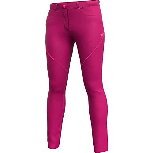 DYNAFIT W Transalper Dynastretch Jeans Pink, Damen Hose, Größe L - Farbe Sangria