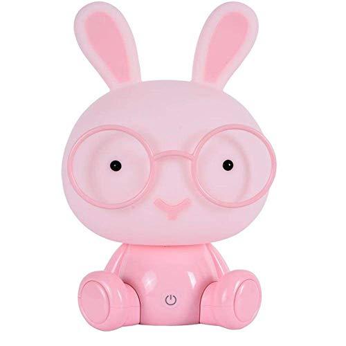 BIBIQ LED Conejo Luz De Noche Lámparas Protección para Los Ojos Emergencia Contacto Decoración Cuarto, Bebé Cabecera Atmósfera Iluminación,Pink