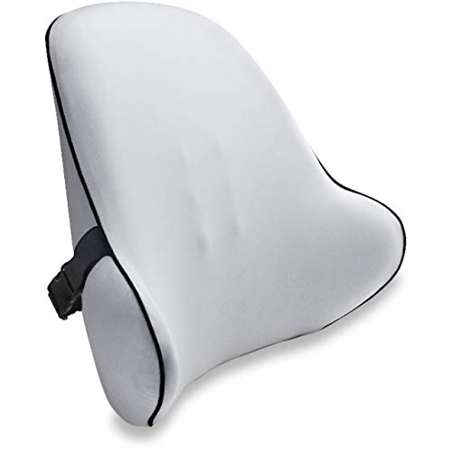 Vitabo breites Rückenkissen – ergonomisches Lendenkissen I Lordosenstütze Rückenstütze für Büro Auto (Grau)