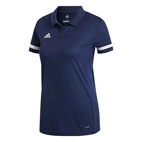 adidas T19 Polo W Polo Shirt, Mujer, Team Navy Blue/White, 2XL