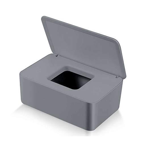 Feuchttücher-Box,Toilettenpapier Box,Kunststoff Feuchttücher Spender,Baby Feuchttücherbox,Baby Tücher Fall,Tissue Aufbewahrungskoffer,Taschentuchhalter,Tücherbox,Serviettenbox (Grau)