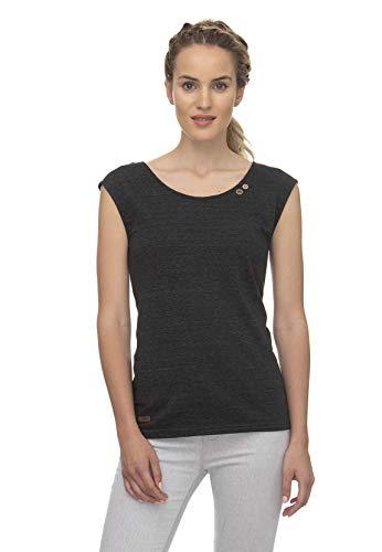 Ragwear T-Shirt Damen T-Shirt Sofia 2011-10010 Schwarz Black 1010, Größe:M