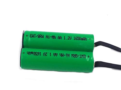 OEM Compatible AA NiMh 2.4V Battery Pack with Solder tabs for Noreclo, Remington shavers
