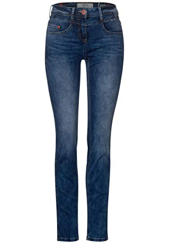 Cecil Damen Mittelblaue Loose Fit Denim mid Blue Used wash 33