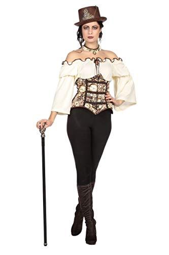 Wilbers Damen Kostüm Steampunk Hose Bluse Korsage Karneval Fasching Gr.42