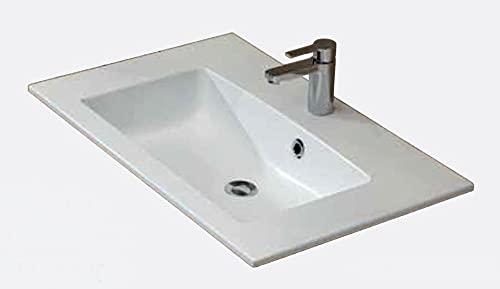 PELIPAL Trentino 770/800 Mineralmarmor Waschtisch/Weiß / 77 x 1,5 x 50 cm