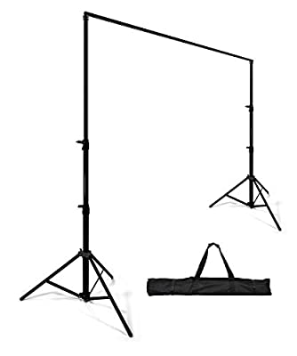 StudioFX Background Stand Backdrop Support System Kit 8ft by 10ft Wide by Kaezi H804S