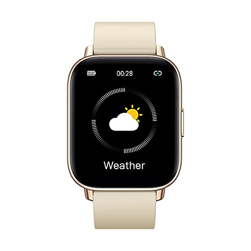 Nuevo 2021 Zeblaze GTS Pro Smart Watch Bluetooth 5.0 Smartwatch Heart Rate Spo2 Level 20+ Modos Deportivos Reloj para Teléfono Android iOS (Gold)