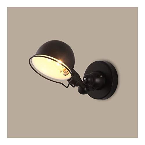 Lampade da parete Applique a LED Lampada da parete a scomparsa Nordic Creative Rocker Arm Retrò bar industriale Lampade da parete for camera da letto for ristorante lampada a muro ( Color : Black )