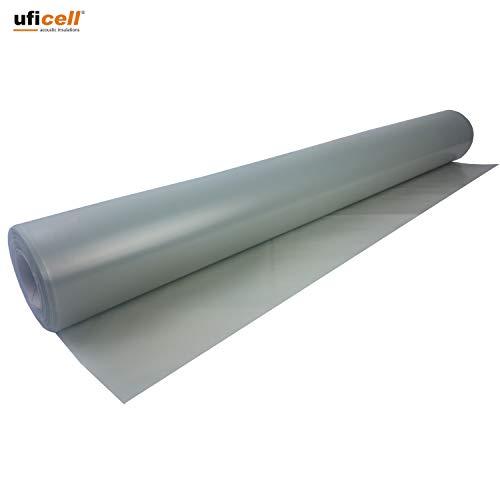 uficell Aqua Stopp Baufolie - PE-Folie - Dampfbremse Stärke 0,12 mm (120 µ) unter Laminat-/ Kork-/ Parkettböden bei erhöhter Restfeuchte bzw. Einsatz einer Warmwasser Fußbodenheizung - Sie kaufen 1 Rolle mit 25 m²