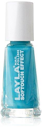 Layla Cosmetics Softtouch Effect Nagellack, aqua zen, 1er pack (1 x 0.01 L)