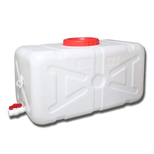 MNSSRN Tanque de Agua de plástico para el hogar Grande de Grado alimenticio, Cubo de Almacenamiento Rectangular Espesado al Aire Libre con un Tanque de Agua Resistente a la Tapa,48L