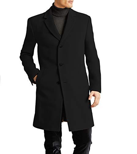 Tommy Hilfiger Men's All Weather Top Coat, Black, 42R